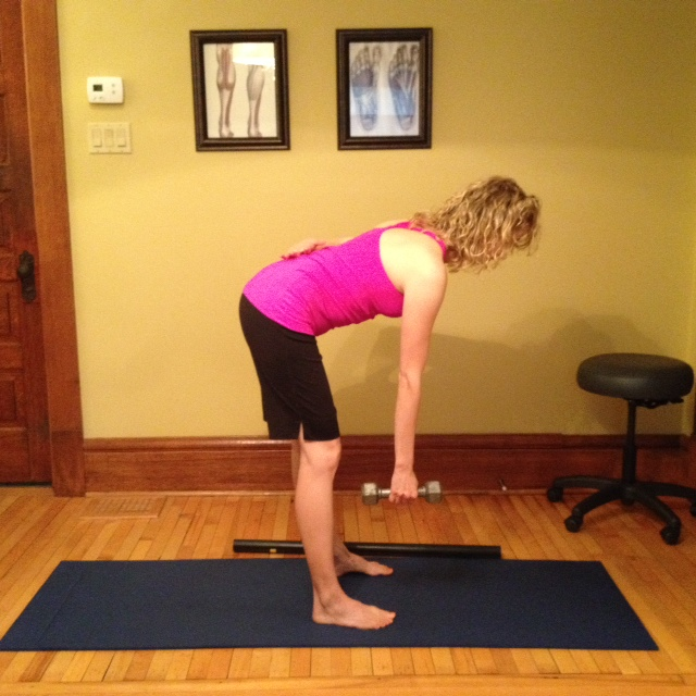 Standing Hip Hinge Exercise Gray Chiropractic St